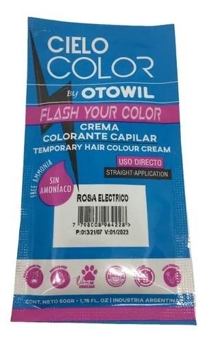 Otowil Colorante Cielo Color Rosa Eléctrico Sobre 50g