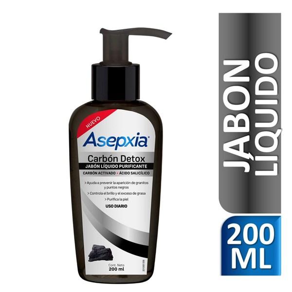 Asepxia Carbón Jabón Líquido