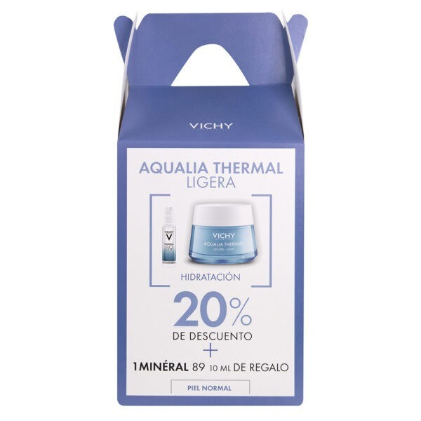 Bom Vichy Aqualia Thermal Light Cream x 50 ml + Mineral 89 x 10 ml de Regalo