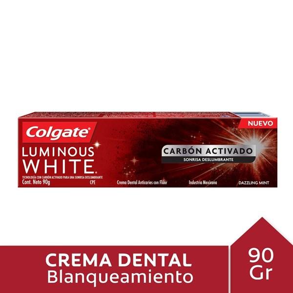 Colgate Cr Luminous White Charcoal X 90 G