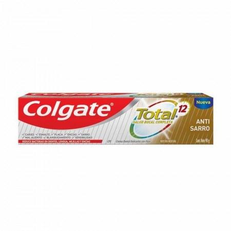 Pasta Dental Colgate Total 12 Antisarro X 90 Gramos