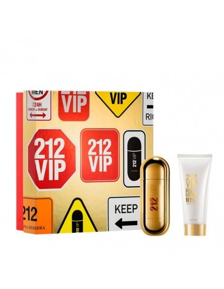 Estuche Carolina Herrera 212 Vip Fem Perfume X 50 Ml + Crema