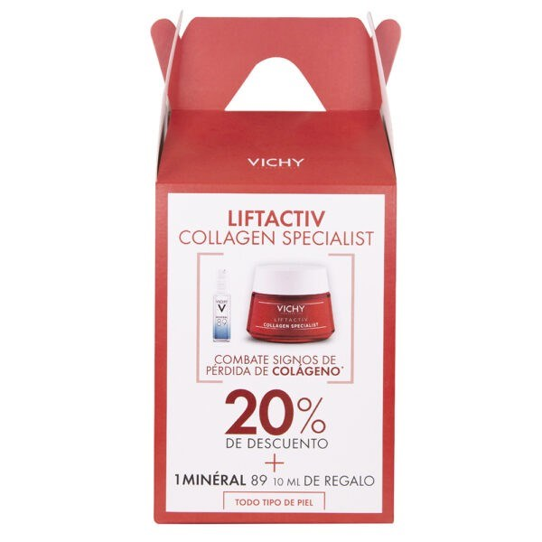 Bom Vichy Liftactiv Collagen Specialist  x 50 ml + Mineral 89 x 10 ml de Regalo