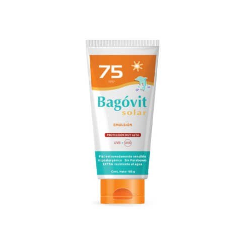 Bagovit Solar Proteccion Muy Alta 75 Fps Emulsion 180 G
