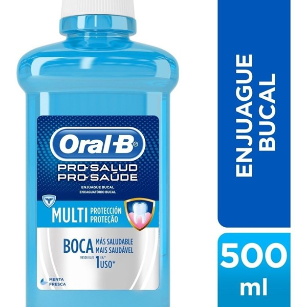 Enjuague Bucal Oral B Pro Salud S/Alcohol X 500 Ml