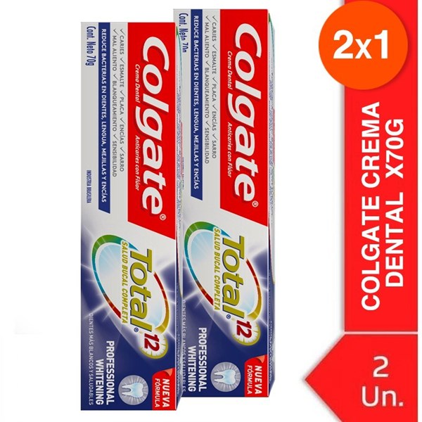Colgate Dental Blancura Avanzada  X 70g