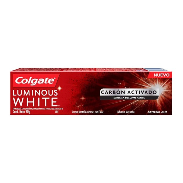 Colgate Crema dental Luminous White Carbon Act x 90 gr ENERO  PROMO 2X1