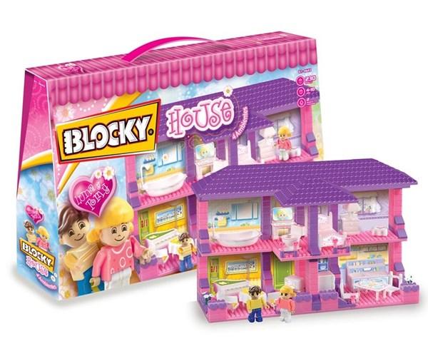 Casita 4 Ambientes Con Muñequitos Juguete Blocky House 6