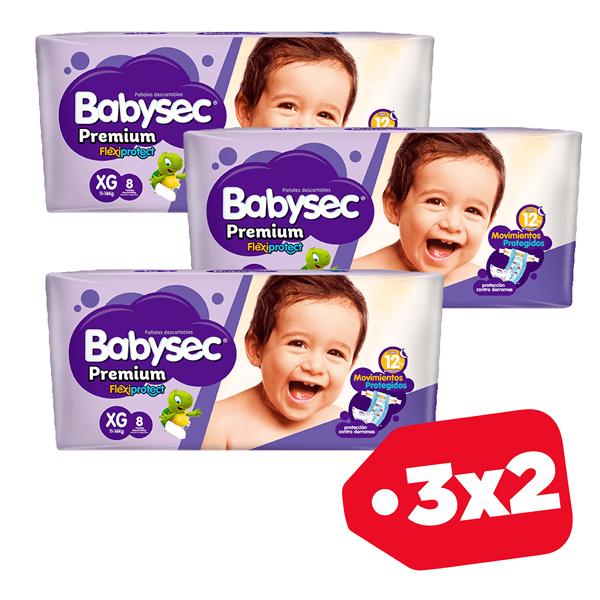 Promo 3x2 Babysec Premium XG x8