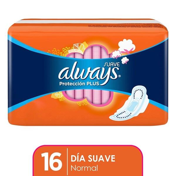 Toallitas Higienicas Always Basica Plus Suav C/Ala X 16 Unidades