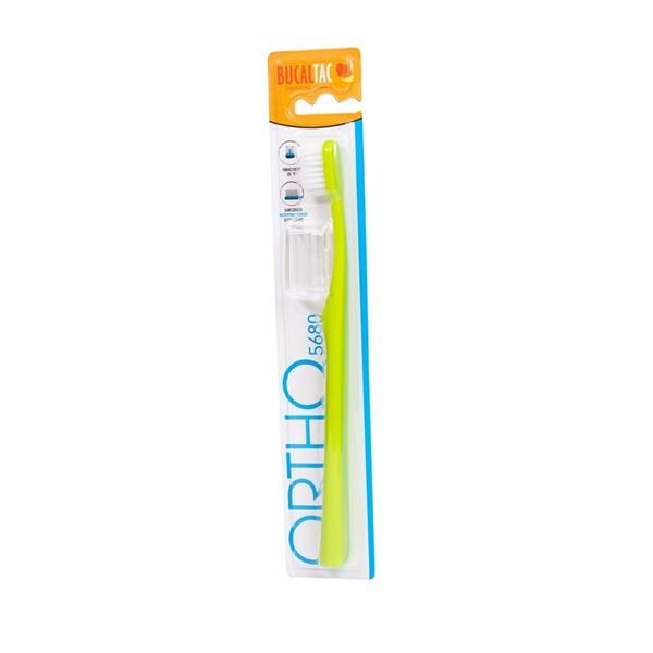Cepillo Dental de Ortodoncia para Adultos 5680 con Capuchón Bucal Tac