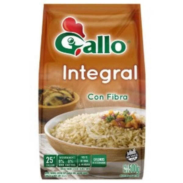 ARROZ GALLO INTEGRAL x 500 GRS