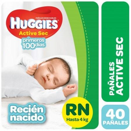 Huggies Active Sec Hiper-pack Rn X40