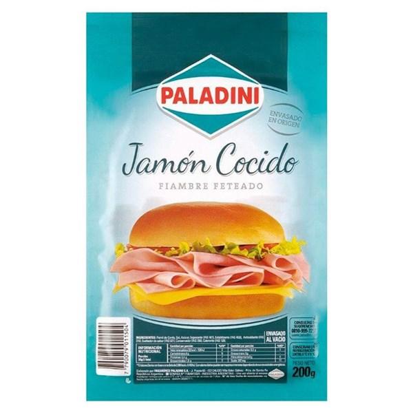 Jamón Cocido Paladini x 200 gr