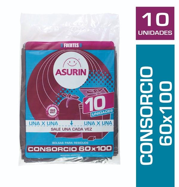 BOLSA CONSORCIO ASURIN 60X100 x 10 U