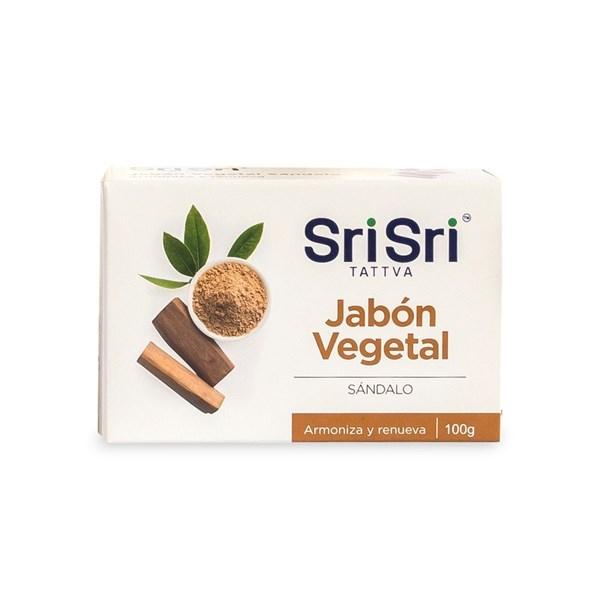 Sri Sri Jabón Vegetal Ayurvédico Sándalo x 100 gr