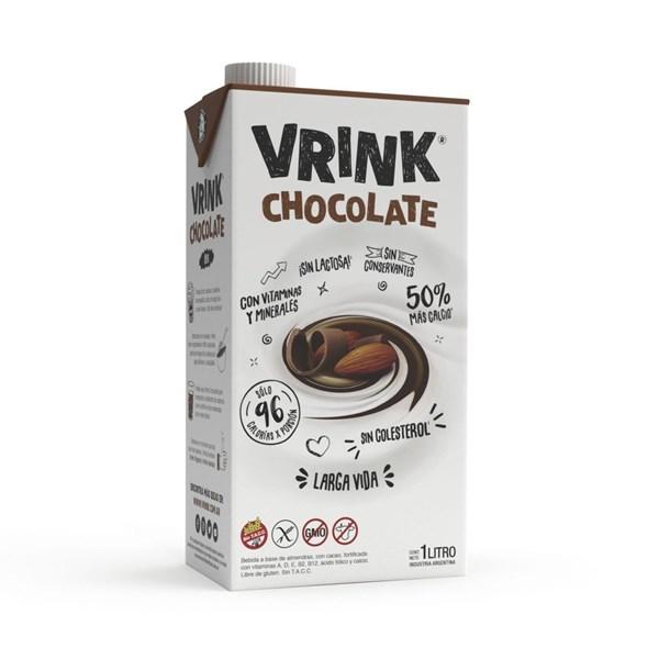 Vrink Bebida De Almendra Chocolate 1 Litro