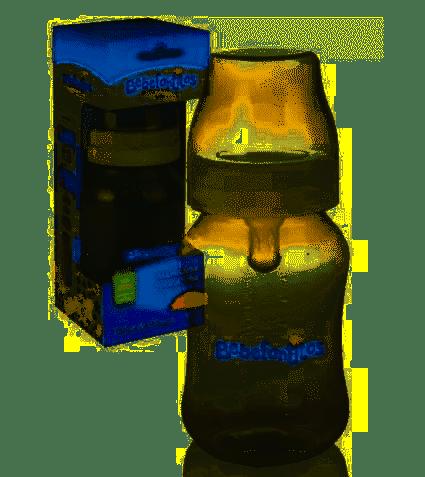 Bebefantitos Mamadera de Boca Ancha con Tetina de Silicona x 250ml