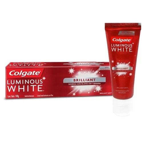 Colgate Crema Dental Luminous White Brilliant 140gr