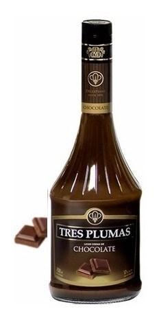 LICOR TRES PLUMAS CHOC x 700 ML