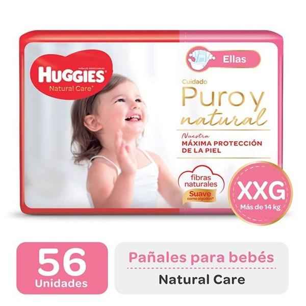 Huggies Pañal Natural Care Ellas XXG x 56