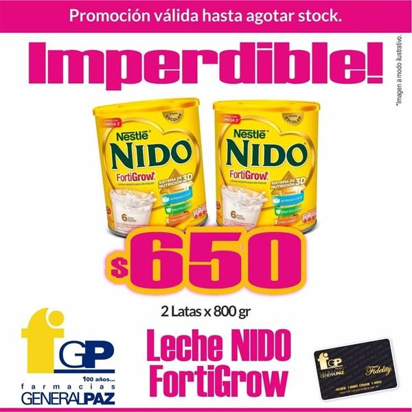 PROMO LECHE Nestle Nido Fortigrow 2 latas x 800 Grs