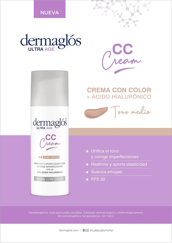 Dermaglos CC Cream Ultra Age Tono Medio FPS30 X 50 Gr alt