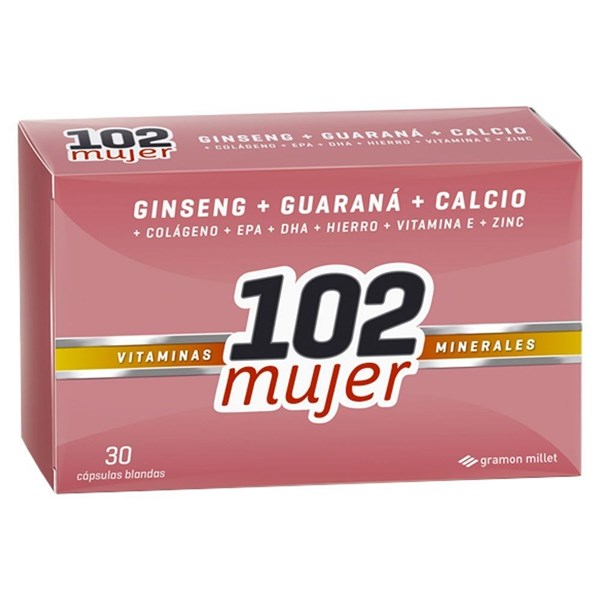 102 Mujer Vitaminas Minerales 30 Cápsulas Blandas