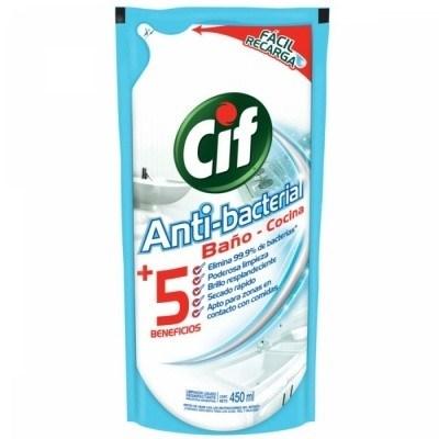 CIF ANTIBACTERIAL DP RECARGA x 450 CC