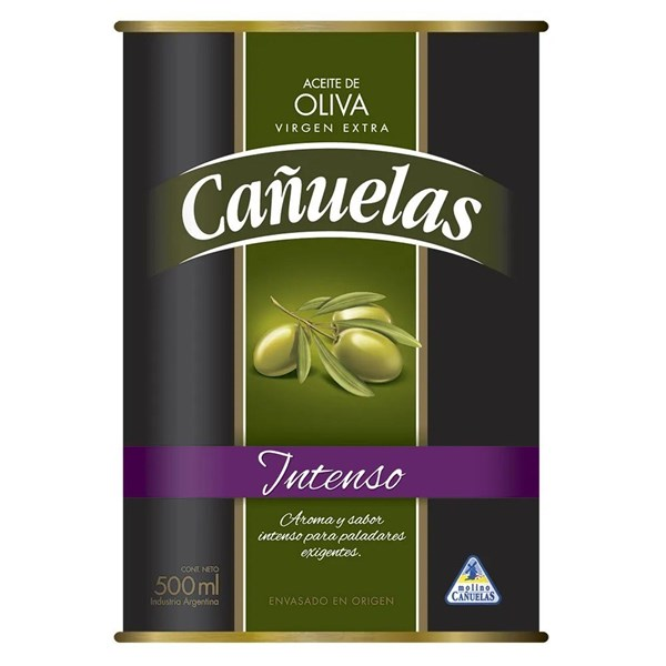Aceite De Oliva Cañuelas Lata Inten X 500 Cc