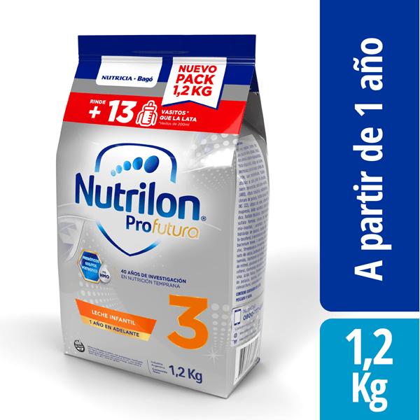 Leche Nutrilon 3 Profutura Pouch X 1,2 Kg