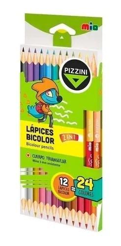 Pizzini Lápices Bicolor 12 Unidades