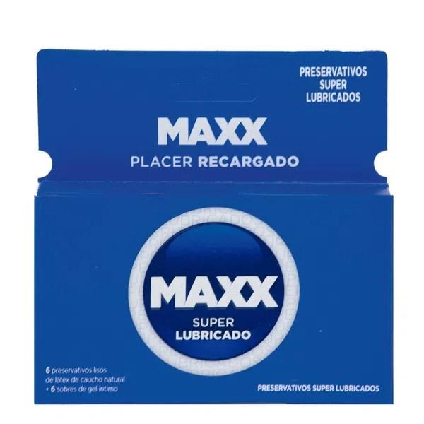 Preservativos Maxx Super Lubricados x6 + Gel íntimo