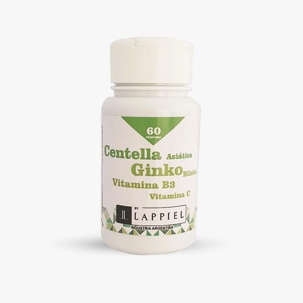 Centella Lappiel Vitamina B3 + Vitamina C + Ginko x 60 capsulas