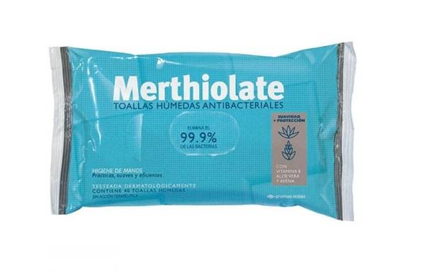 Merthiolate Toallas Húmedas Antibacteriales X10 Toallas