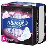 Toallitas Higienicas Always Pink Noches Tranq Suave X 8 Unidades  #3