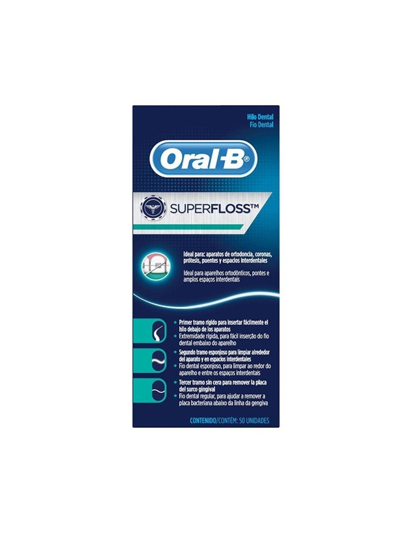 Oral-B Pro-Salud Superfloss Hilo Dental 50 Unidades