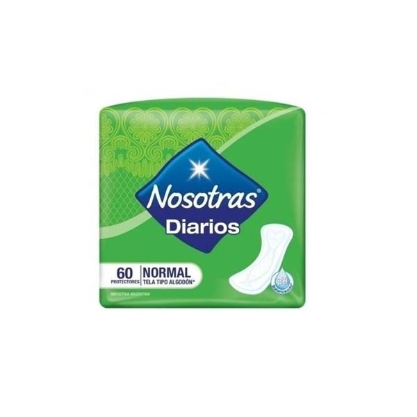 Nosotras, Protectores Diarios Normal 60 un