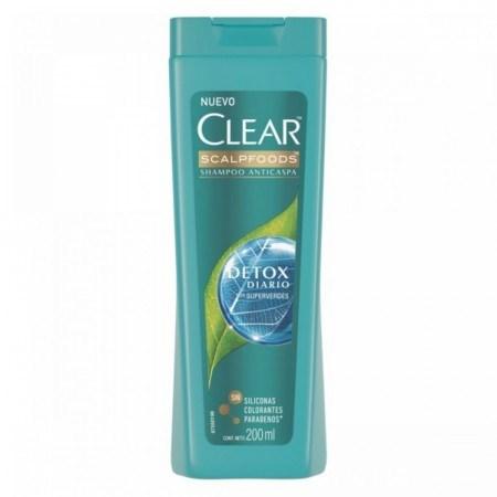 Clear Shampoo Detox Diario Anticaspa 200ml