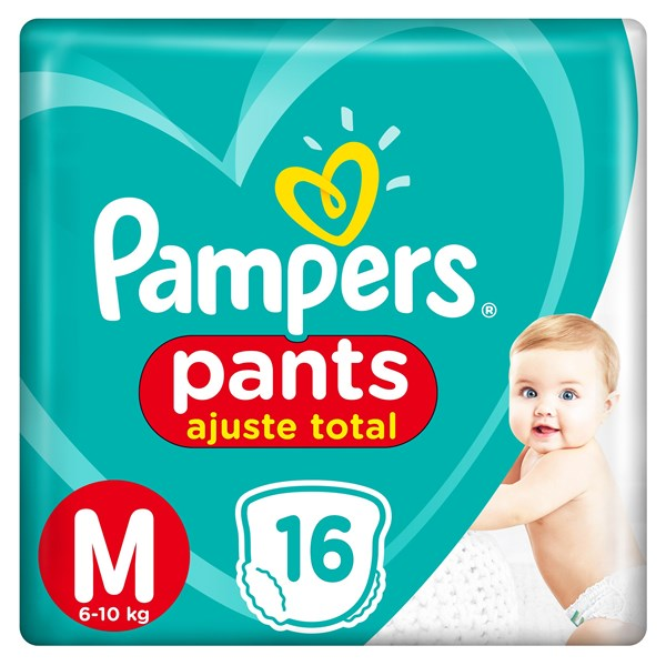 Pañales Pampers Pants M X 16 Unidades