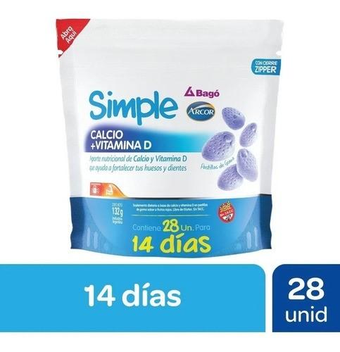 Simple Calcio + Vitaminda D X 28 unidades