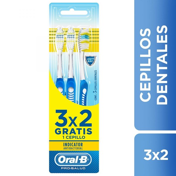 Oral B Cepillo Dental x 3un Indicator Antib.40S 3x2