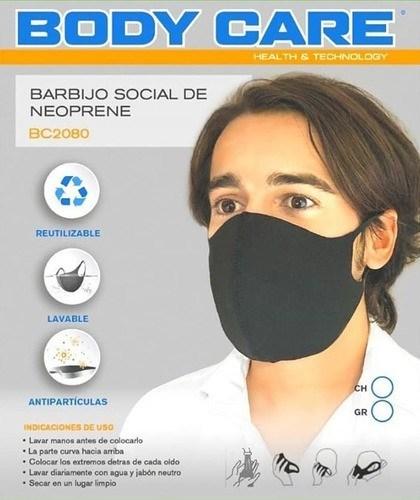 Tapaboca Social De Neoprene Body Care Hombre BC2080