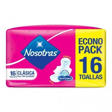 Toallitas Femeninas Nosotras Clasica Tela x 16un