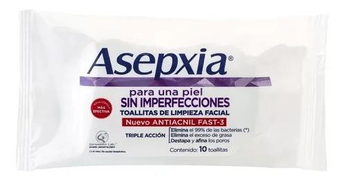 Asepxia Limpieza Facial Toallitas Limpieza Profunda x10 Unidades 2x1