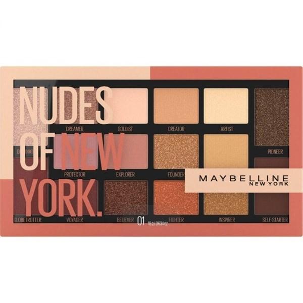 Maybelline Paleta de Sombras  Nudes of New York Palette 16  Tonos #1