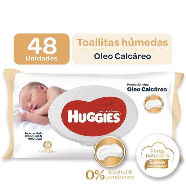 Huggies Toalla Tipo Oleo Calcareo X 48
