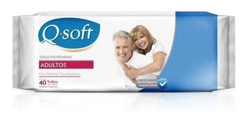Q Soft Toallitas Húmedas Para Adultos 40 Unidades