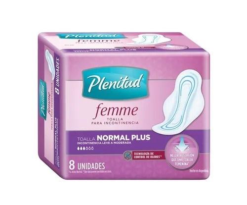 Plenitud Femme Toalla Incontinencia Normal Plus x8