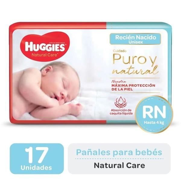 Huggies Pañales Natural Care Recién Nacido x17un